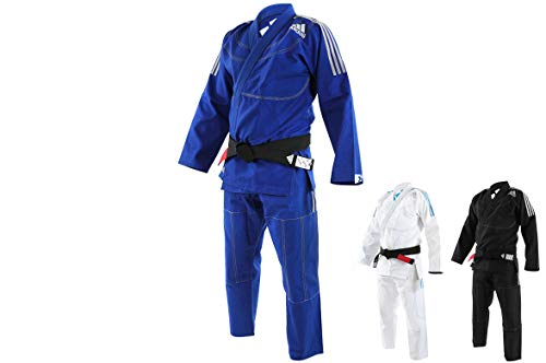 Kimono Brazilian Jiu Jitsu BJJ Adidas JJ430 Contest negro y blanco A2.5