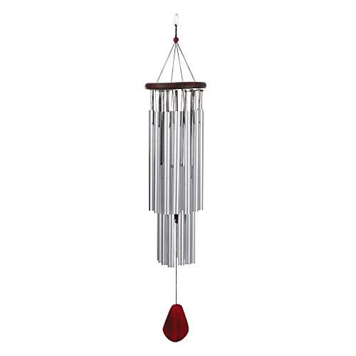TIREOW Redwood Silver Tube Carillons éoliens, Carillon à Vent à 27 Tubes Fait Main Tons Mélodiques Apaisants Décor De Jardin Windows