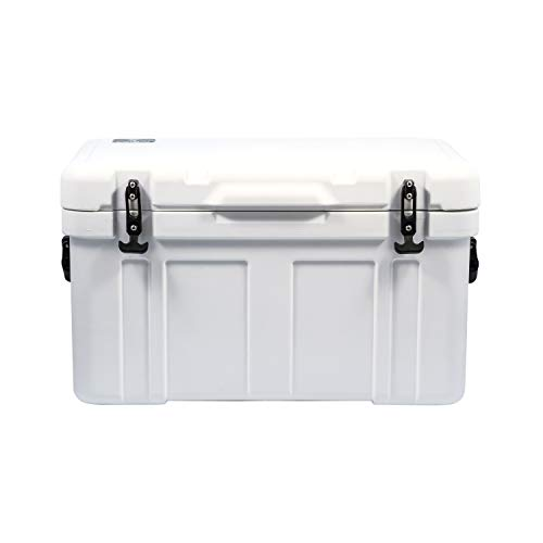 Currituck Heavy Duty Cooler by Camco -Perfect as a Boat Cooler and For Hunting, Hiking, Camping, Fishing, The Beach and More 58 Quarts (White) (51870)