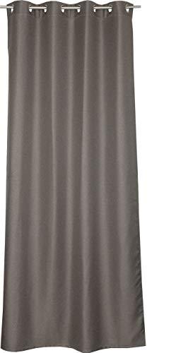 Schöner Wohnen Opaco Ösenvorhang Gardinen Vorhänge Stores - Größe 140 x 250 cm - Farben beige/braun/hellgrau
