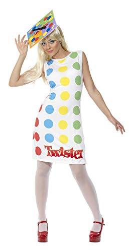 Smiffy's - Dames Twister kostuum, jurk en hoed, meerkleurig