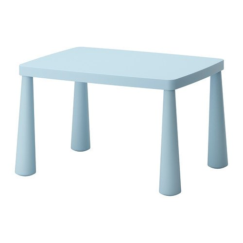 IKEA MAMMUT Children's table, light blue indoor/outdoor light blue