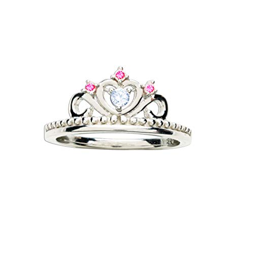 Sterling Silver Princess Tiara Baby Ring for Little Girls