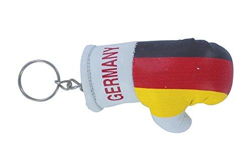 Schlüsselanhänger, Boxhandschuh, mit deutscher Flagge