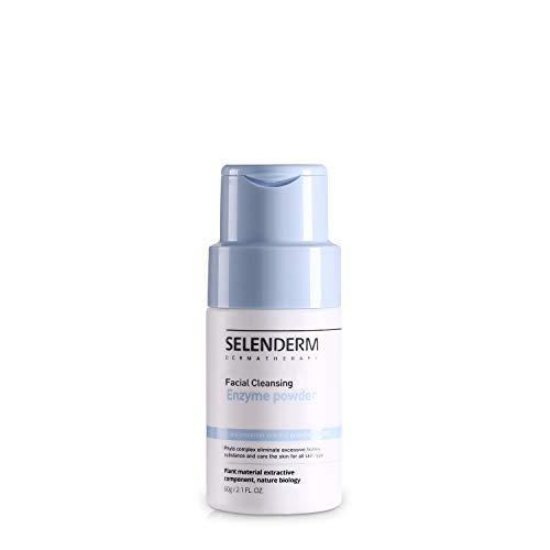 Selenderm Facial Cleansing Enzyme Powder Exfoliating Renew Scrubs Peeling 2.1 Fl Oz