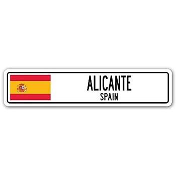YelenaSign Señal de Calle Valencia España, Bandera de España para ...