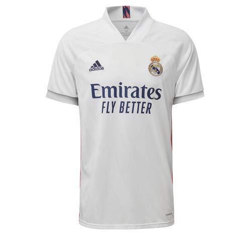 Adidas Real Madrid Temporada 2020/21 Camiseta Primera Equipación Oficial, Unisex, Blanco, XL
