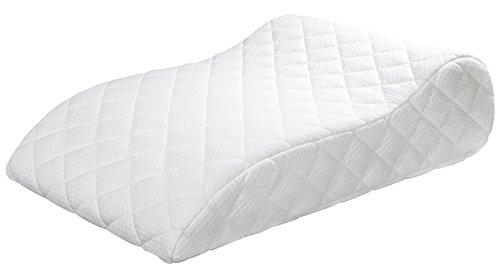 sleepling 190114 Basic 400 Venenkissen Baumwolle (Doppeltuch versteppt) ca. 40 x 68 x 16,5 cm, weiß