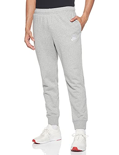 Nike Herren M NSW Club JGGR FT Sport Trousers, dk Grey Heather/Matte Silver/(White), L