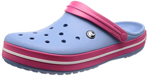 Crocs Crocband, Zuecos Unisex Adulto, color Chambray Blue/Paradise Pink, talla 36-37