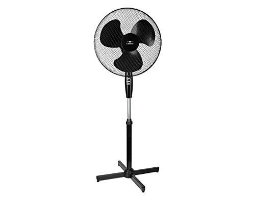 Lentz Standventilator Ø 40 cm Stand-Ventilator oszillierend 3 Geschwindigkeitsstufen verstellbarer Neigungswinkel Metallgitter höhenverstellbar schwarz