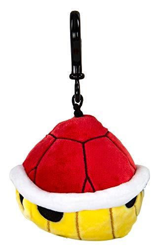 TOMY T12952 Mario Kart-Clip' n Plush Mochi Carapace Rouge 10 cm Schlüsselanhänger aus Plüsch, rot