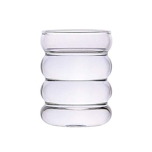Baoblaze Vasos Elegantes Vasos para Beber Agua, Vino, Cerveza, cócteles y Bebidas mezcladas-Redondas - Transparente