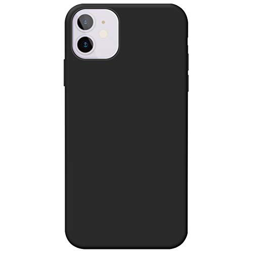 #CELL Soft Silicone Plain Matt Black Mobile Case Cover for Apple iPhone 11