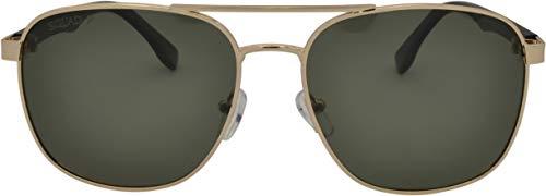 SQUAD Gafas de sol polarizadas para adultos hombres y mujeres, estilo casual clásico cuadrado, protección 100% UV400, Doble puente Metálico