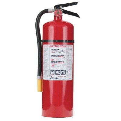 Kidde FIRE Extinguisher PRO 10 LB Multi-Purpose 4A:60BC Rechargeable