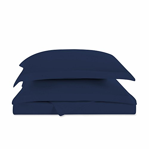 "Super King California King Oversized 3 Piece Duvet Cover Set (120"" x 98"") (Navy Blue)"