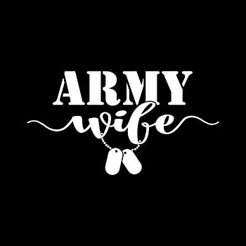 Army Wife Dog Tags NOK Decal Vinyl Sticker |Cars Trucks Vans Walls Laptop|White|6.2 x 3.5 in|NOK1302