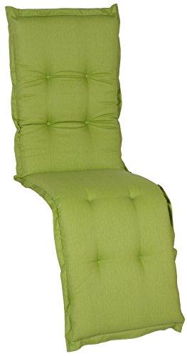 beo Coussin AU31 Nice RE avec Bordure pour Housse de qualité de avec Haute résistance à la lumière, Assise Confortable pour Chaise Relax, env. 174 x 52 cm, épaisseur env. 7 cm