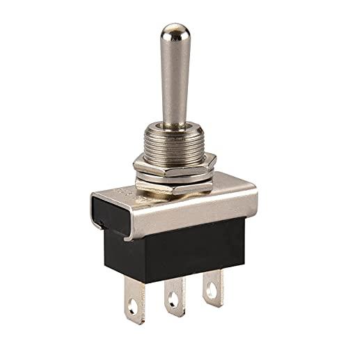 Heschen Métal Interrupteur à bascule Flick Flip 12 V 25 A Spdt on/off/on 3 position 3 broches pour éclairage de tableau de bord