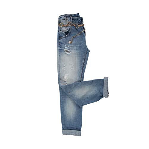 Fracomina Boyfriend Vintage Wash Jeans Da Donna