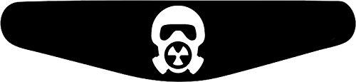 Decus-Shop Play Station PS4 Lightbar Sticker Aufkleber Gas Maske (schwarz)