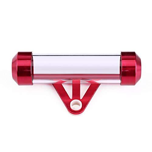 Motorrad Tax Disc Tube, wasserdichter Aluminiumlegierung Tax Disc Tube Holder für Motorrad Scooter Motorrad(rot) support