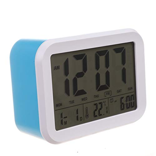 hhxiao Digitale Alarm Klok Digitale Alarm Klok, Pratende Klok Met 3 Alarmen 7 Geluiden Optionele Weekdag Alarm, Intelligente Noctilucent & Snooze Functie