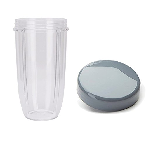 Sduck Replacement Parts for Nutribullet, Extra Large 32oz Cup & Stay-fresh Resealable Lid for Nutribullet