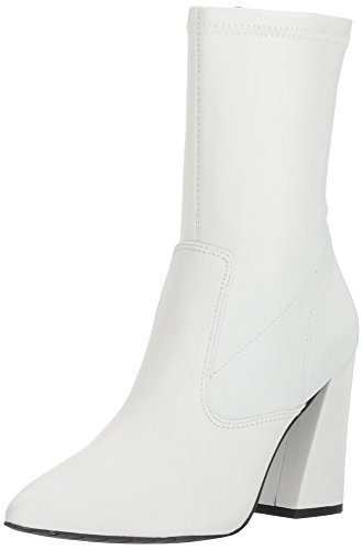 Kenneth Cole New York Women's Galla Pointed Toe Bootie with Flared Heel Stretch Shaft Fashion Boot, White, 9.5 Medium US