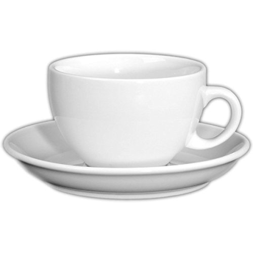 'Holst Porcelana PA 157o fa4Taza de café con Leche Palermo en platillo UTP, 0,35l, Color Blanco, 17x 17x 8cm