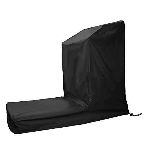 AGVER Oxford Fabric Treadmill Möbelbezug Laufmaschinenbezug Motorisierte Fitnessbezüge Geeignet Für Innen- Und Außenbereich Schwarz,206x94x170cm