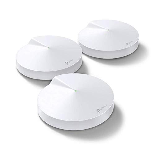 TP-Link Deco M5(3-Pack) Systèmes WiFi Mesh performant pour toute la maison - Couverture WiFi de 500m2 - Installation Facile - Contrôle parental - Compatible avec toutes les Box Fibre