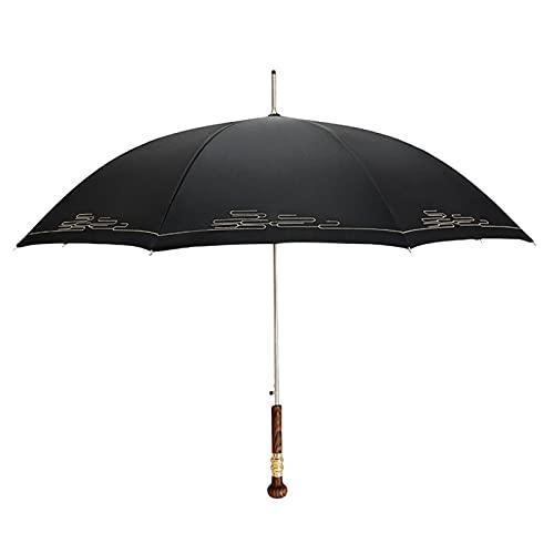 Manija de Madera Larga Japonesa Paraguas Paraguas jardín Golf Industrial Mango Largo Paraguas parapluie Lluvia Paraguas (Color : Style 1)