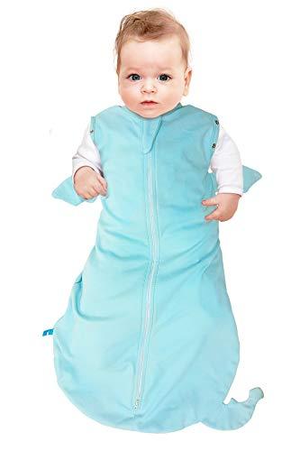 Wallaboo Baby Schlafsack, Der idealer erster Pücksack für Ihre Kleinen 100% Baumwolle, Super für Babys die oft wach werden, Passend auch für alle Babyschale, Maße M: 3–6 Monaten, 6–9 kg, Farbe: Blau