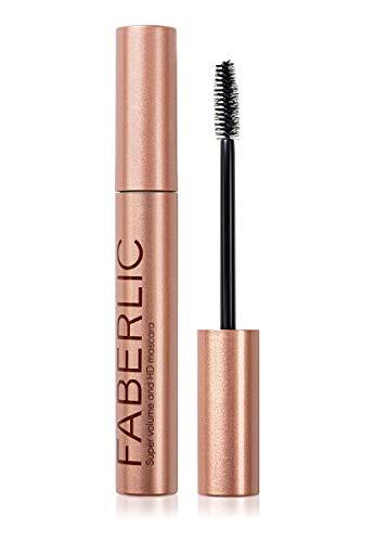Faberlic Glam Team 4D Eyelash Mascara for Sensitive Eyes with Italian Clump-free Fiber Brush Volumizing for Long Lashes or Natural Looking Eyelashes (Black)