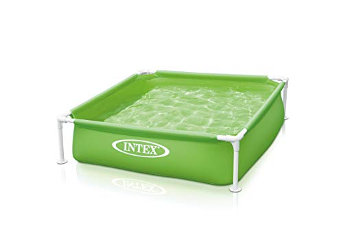 "Intex Mini Frame Kids 48""x48""x12"" Beginner Kiddie Swimming Pool, Green 