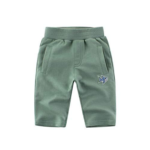 HOSD Boys Pants Pantalon rayé en Coton pour Enfants en Coton pour Enfants