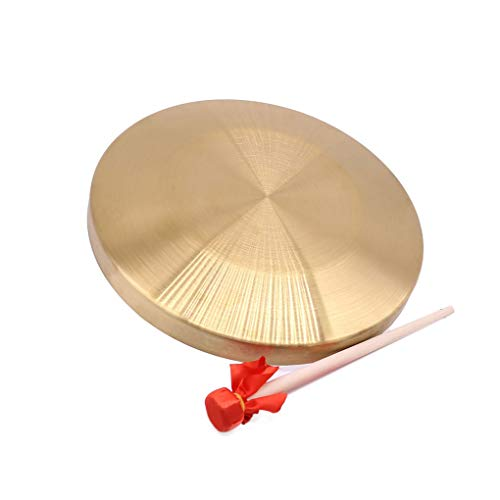 Fengyuanhong 1 Set Hand Gong Cymbals Band Rhythm Percussion-Instrument Tragbares Kupfer Gong mit Stock