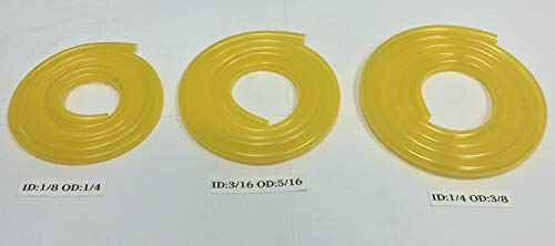 Tygon Genuine F-4040-A Clear Yellow Fuel Line 3 Sizes Variety Pack (3 Feet Each)