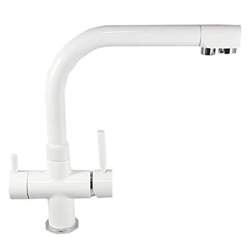 ForHome FH3023BI - Grifo de agua purificada de 3 vías, color blanco
