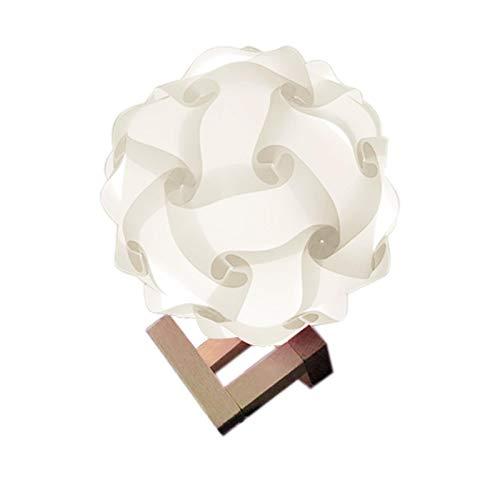 IQ lámpara sombra juguete DIY rompecabezas lámpara sombra dormitorio cabecera montado rompecabezas moderno USB noche luz para la habitación jardines decoración romántica