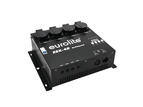 EUROLITE ESX-4R DMX RDM Switchpack | 4-Kanal-DMX-Switchpack bis zu 5 Ampere belastbar, Schaltung per Triac