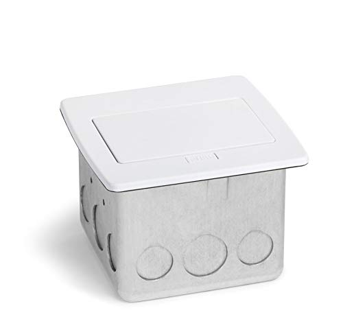 Lew Electric PUFP-CT Countertop Box, Pop Up w/20A GFI Receptacle (White)