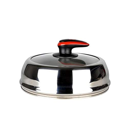 Universal Glass Lid, Heighten And Deepen The Transparent Steamer Lid Visible Lid High Lid - Various Sizes 28.5cm - Pan Lids