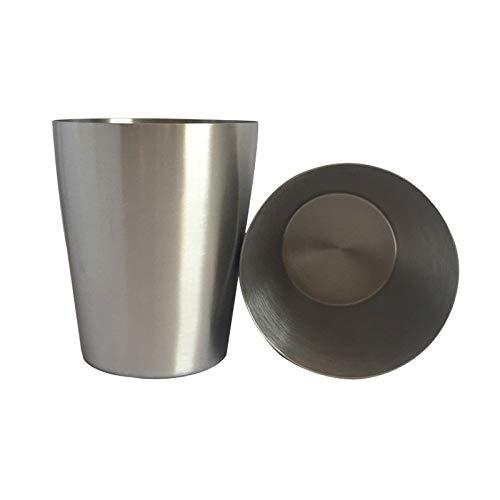 Cuisine multifonction Culotte à boisson en acier inoxydable électropolie à une paroi, 400 ml (Argent) , Légère et durable, facile à laver et à nettoyer (Couleur : Silver)