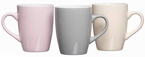 Ritzenhoff & Breker Kaffeebecher-Set Denia, 3-teilig, je 370 ml, Farblich Sortiert, Porzellan