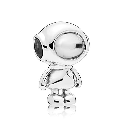 925 Plata Tía Abalorio Cosmo Tommy Astronauta Encanto Moda Mujer Pandora Pulsera Brazalete Regalo Diy Joyería Regalo De Navidad Para Novia
