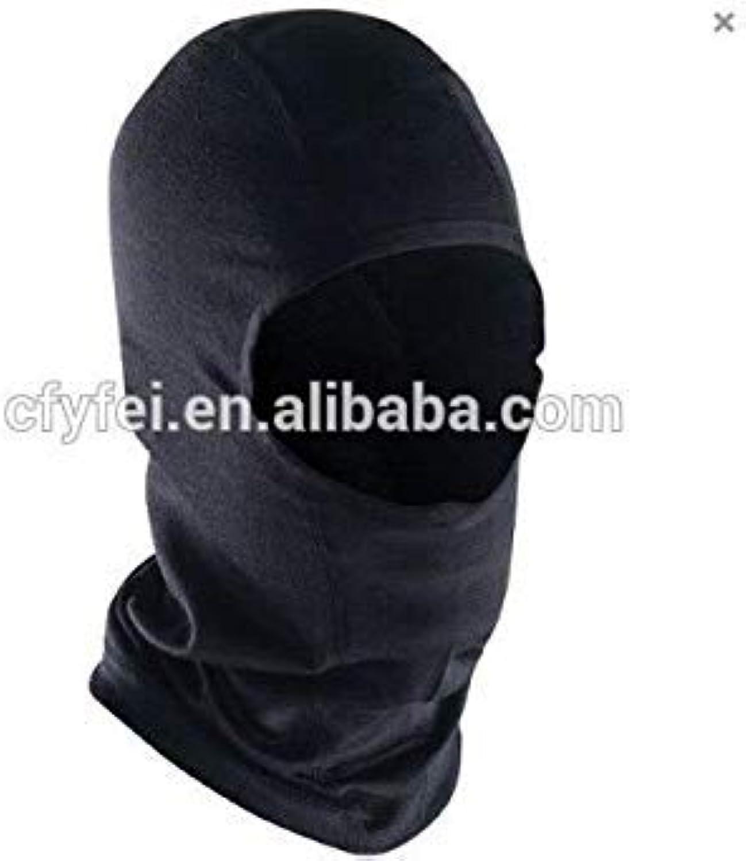 100% Australian Pure Merino Wool Mask, Merino Wool Face Mask, Thermal Wool Mask, Black color, 2 Size Choice, Fits All Head Shape