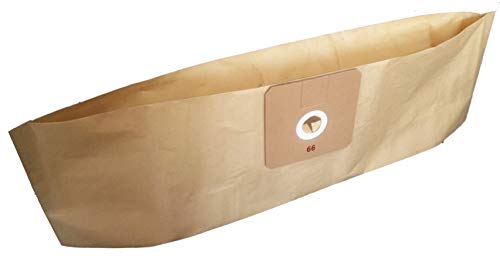 Bolsa para aspiradora compatible con GHIBLI: 6511051, AS 6, D 12, 6582030, 2512044, Power D - HAREMA/HVS 13S - HV VACUUMLIN: HV 13S - NOVAKEM: P 6 - TODEMINS: AS 6 - Bolsa de 10 bolsas de papel
